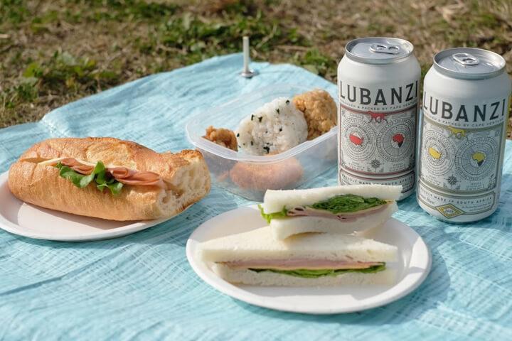 公園やピクニックを楽しむ缶ワイン